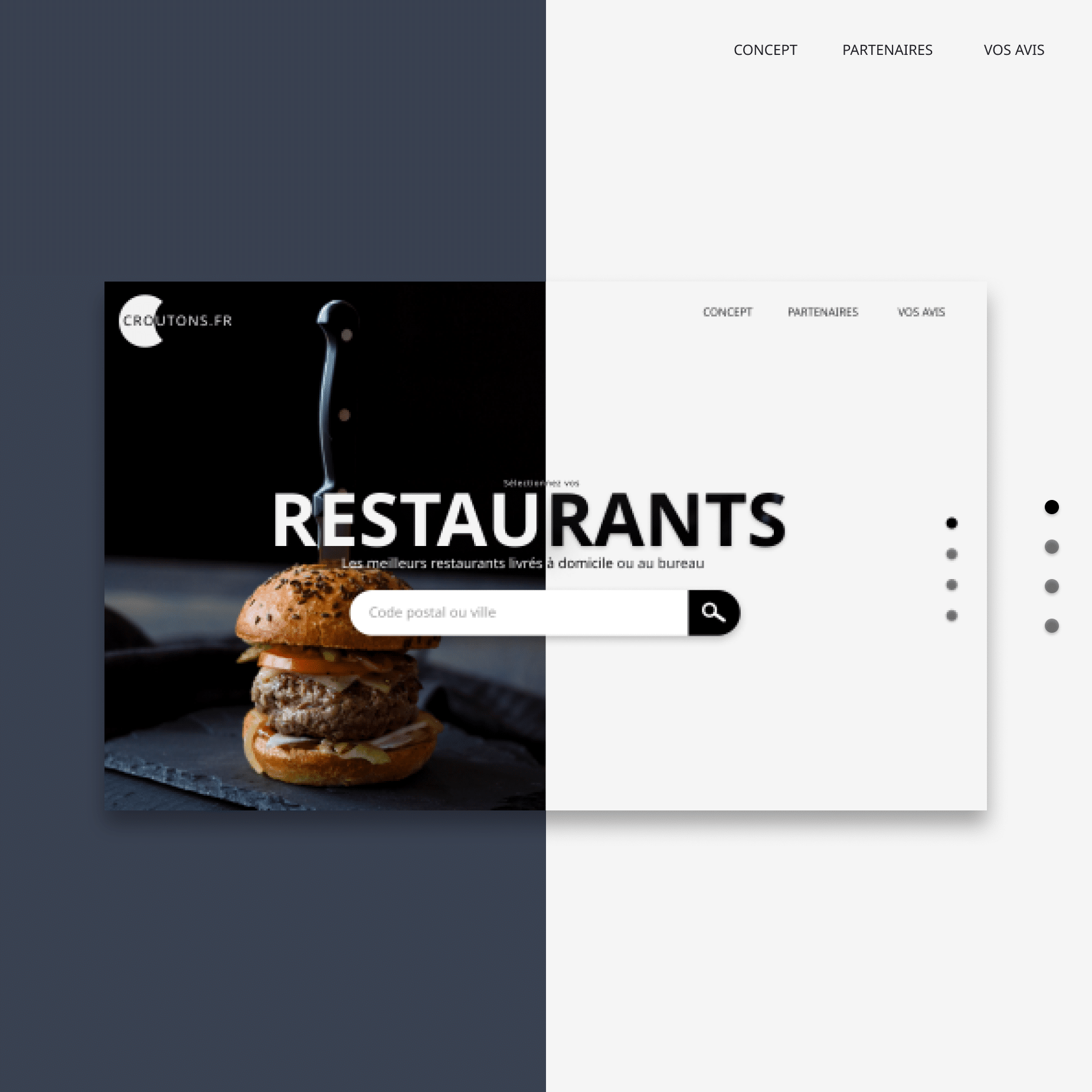 Landing Page – Croutons.fr